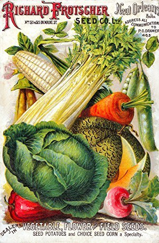 Primary image for Vintage Seed Co. Reproduction Print 11 x 17 Frostscher Seed Co.#2