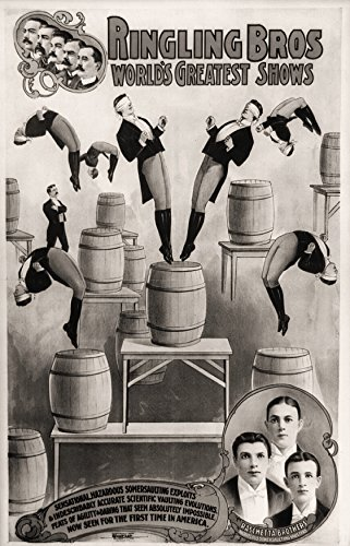 Primary image for Vintage Reproduction Print Circus Raschetta Brothers 1900