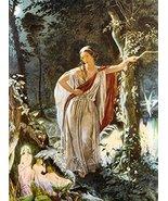 Vintage Reproduction Print Fairy Garden 11x17 Hermia and the Fairies 1861 - $27.79