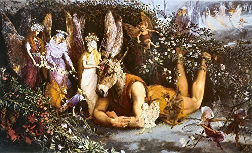 Primary image for Vintage Reproduction Print Fairy Garden 11x17 Titania and Bottom
