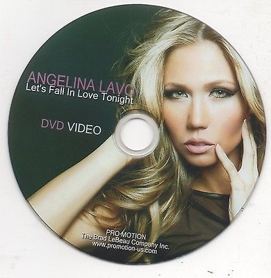 Primary image for Angelina Lavo Let's Fall in Love Tonight Rare Promo DVD Video