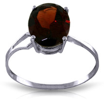 size 7 Brand New 2.2 ct 14K Solid White Gold Emphasis On Glamour Garnet Ring - $217.58