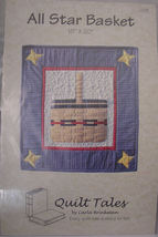 "Pattern Quilted wall hanging ""All Star Basket"" 18"" x 20"" - $4.99"