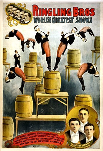 Primary image for Vintage Reproduction Print Circus Ringling Brothers 1900 Barrel Act