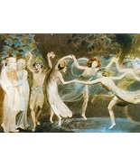 Vintage Reproduction Print Fairy Garden 11x17 Oberon and Titania and Puc... - $27.79