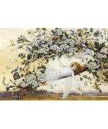 Vintage Reproduction Print Fairy Garden 11x17 Ariel 1858 - $27.79