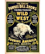 Vintage Reproduction Print Circus Great Pawnee Bill 1903 - $27.79