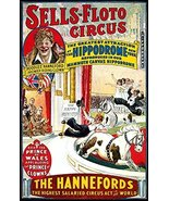Vintage Reproduction Print Circus Sells Floto Brothers The Hennefords - $27.79
