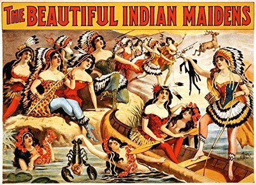 Primary image for Vintage Reproduction Print Circus Indian Maidens