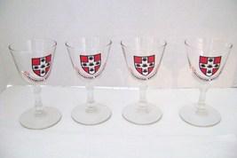 4 Ohio Wesleyan University  Stem Wine Glasses - $18.00
