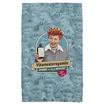 I Love Lucy Vitameatavegamin Sublimation Beach Towel - $32.34