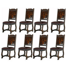 Eight Gran Hacienda Hide Dining Chairs Solid Wood Lodge Shabby Chic - $3,407.58