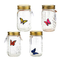 LED Flying Butterfly Bottle Glass Jar Night Light Romantic Home Decor Gift - $17.27+