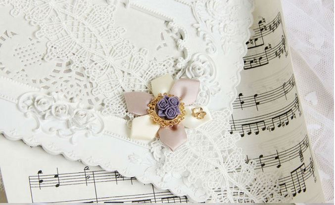 White Pink Satin Flower Purple Resin Flower White Lace Choker/ Wedding Necklace