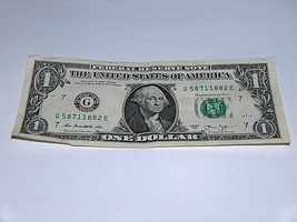 2013 $1 Dollar Bill US Note Year Jesse James Death 5871 1882 Fancy Serial Number - $12.95