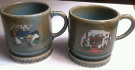 Wade Mug Irish Porcelain Farm Scene and Firepla... - $10.87