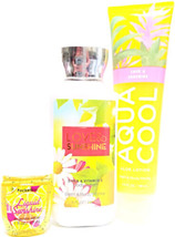 Bath and Body Works Love & Sunshine Lotion, Aloe Lotion & Pocket Bac Set... - $24.93