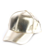 Bling! Metallic Baseball Cap Fashion Hat Gold - $19.79