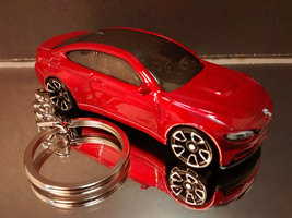 Dark Red 2014 BMW M4 Key Chain Ring - $14.24