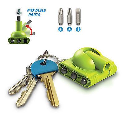 3 in 1 Multi-Tool Mini Screwdriver Tool Key Chain Tank Key Chain Key Ring Set