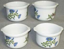 Set (4) BIA Cordon Bleu CAROLINE PATTERN Colorful Floral TAB HANDLED CHI... - $39.59