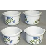Set (4) BIA Cordon Bleu CAROLINE PATTERN Colorful Floral TAB HANDLED CHI... - $39.59
