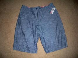 Men's Guys Quiksilver Chambray Denim Blue Shorts Multi Pocket New - $34.99