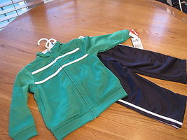 Boy's Baby infant Puma active jacket pants set stripe green navy 24 months $40 - $29.89