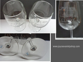 """Novelty Etched Wine Glasses """"Classy, Sassy, Smart Assy"""" Set of Two USA - $23.99"""