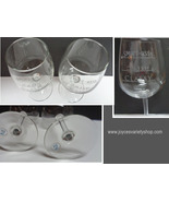 "Novelty Etched Wine Glasses ""Classy, Sassy, Smart Assy"" Set of Two USA - $23.99"