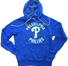 Mens Majestic Threads Philadelphia Phillies Tri Blend Pullover Hoodie Large - $78.39