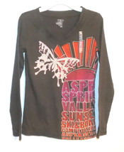 Old Navy Girls Long Sleeve T-Shirt Brown Size Large 10-12 NWT - $7.56