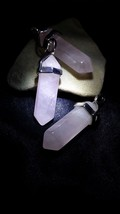 Rose Quartz White Light Healing Talisman Pendulum Wiccan Ward Off Negative - $26.45
