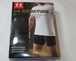 Men's M Under Armour UA Signature Undershirt Crew Neck 2 Pack t shirt Black 001
