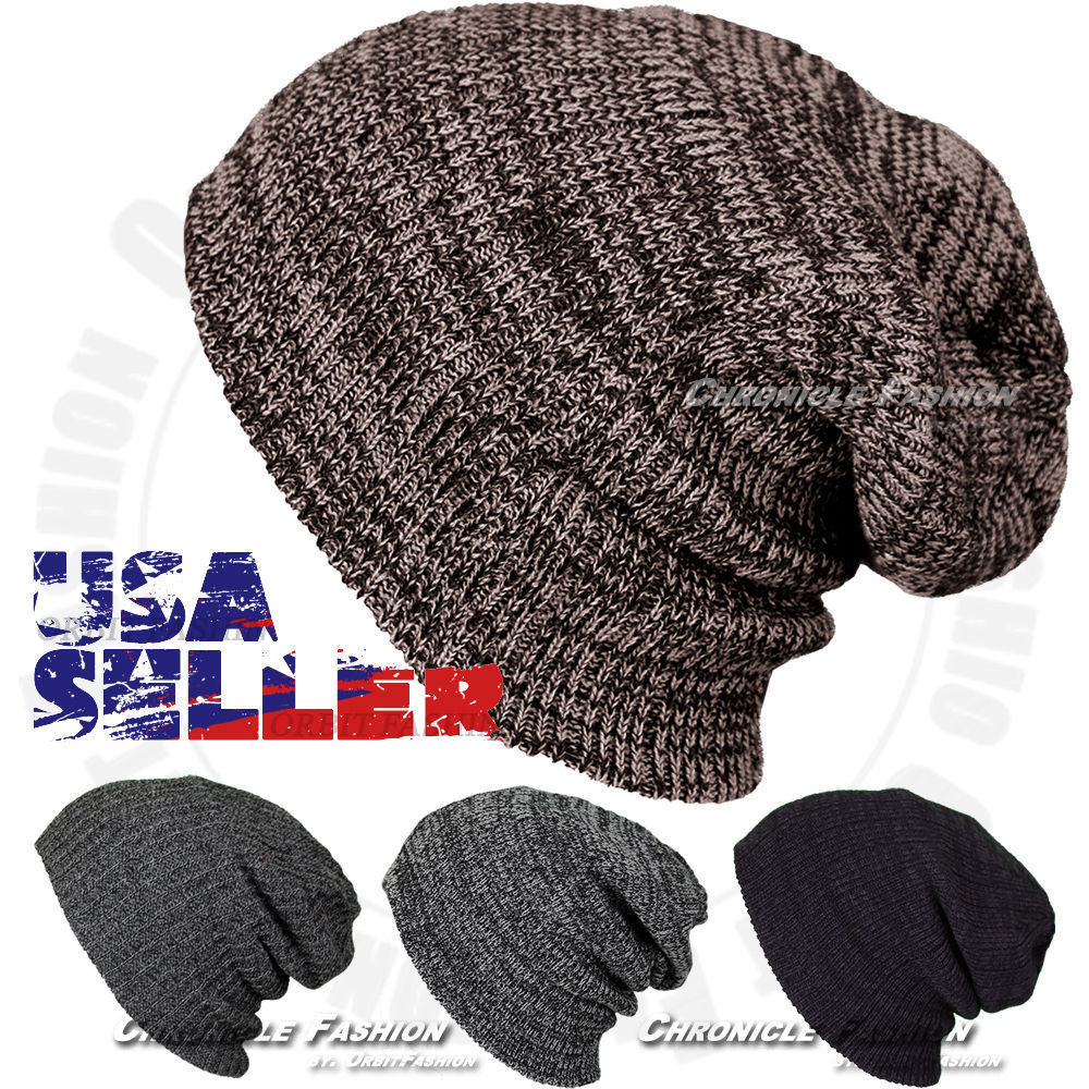 Primary image for Mens Women's Beanie Knit Winter Warm Baggy Casual Hat Ski Slouch Skull Cap Cuff