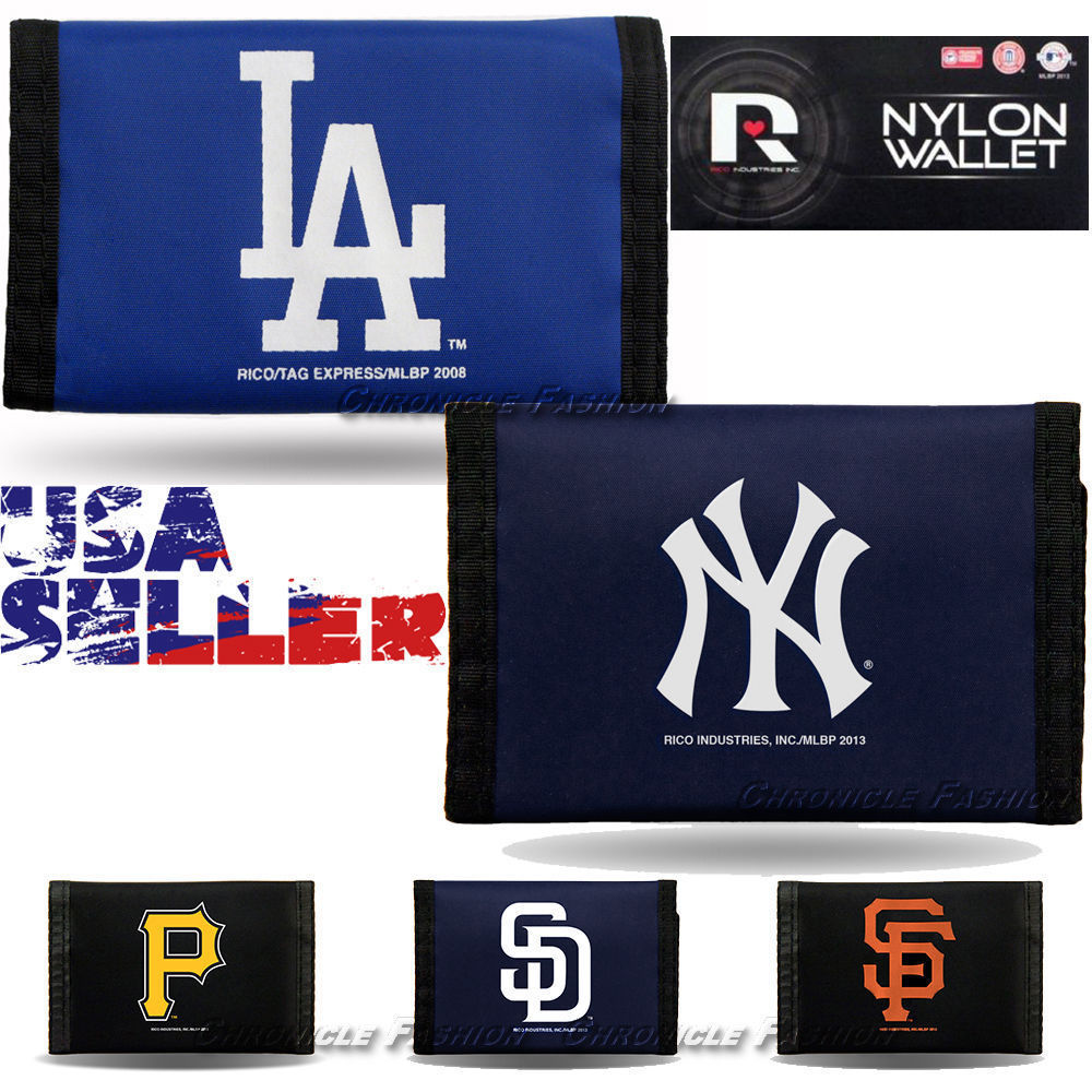 Primary image for MLB Baseball Team Logo Velcro Nylon Trifold Wallet Licensed - Pick Your Team NWT