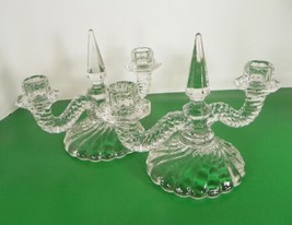 Vintage Fostoria Crystal COLONY Double Light Candlestick Candle Holder L... - $34.60