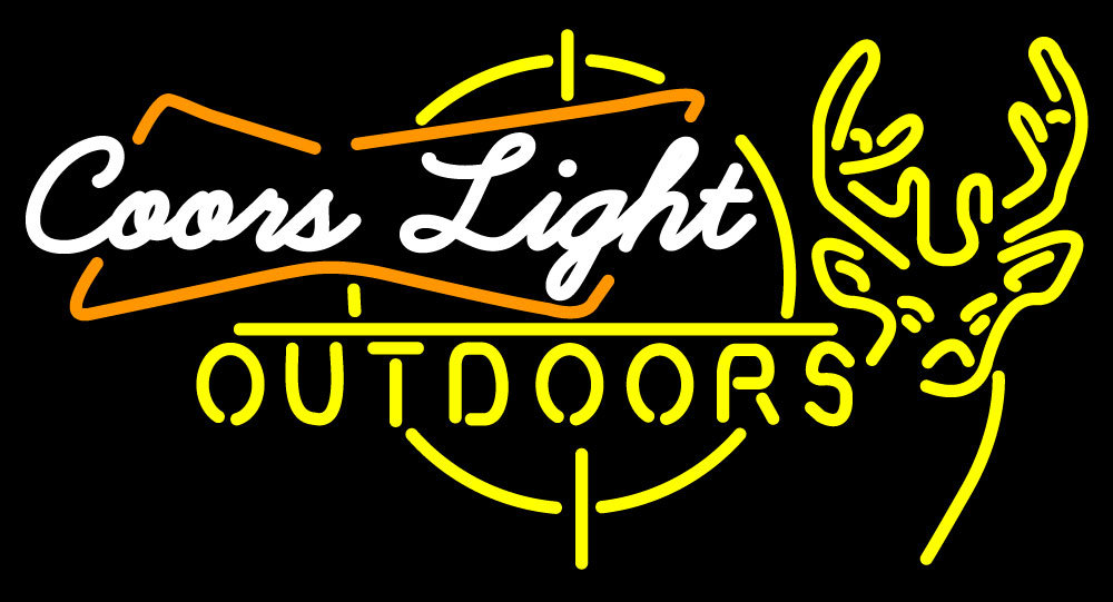 Primary image for Coors Light Outdoors Deer Neon Sign