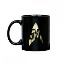 Star Trek 50th Anniversary Coffee Mug Delta In Gold Logo - Black Ceramic... - $53.99