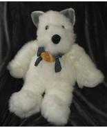 Soft Classics 1997 Geoffrey Commonwealth Big Large Fluffy White Gray Dog... - $79.19