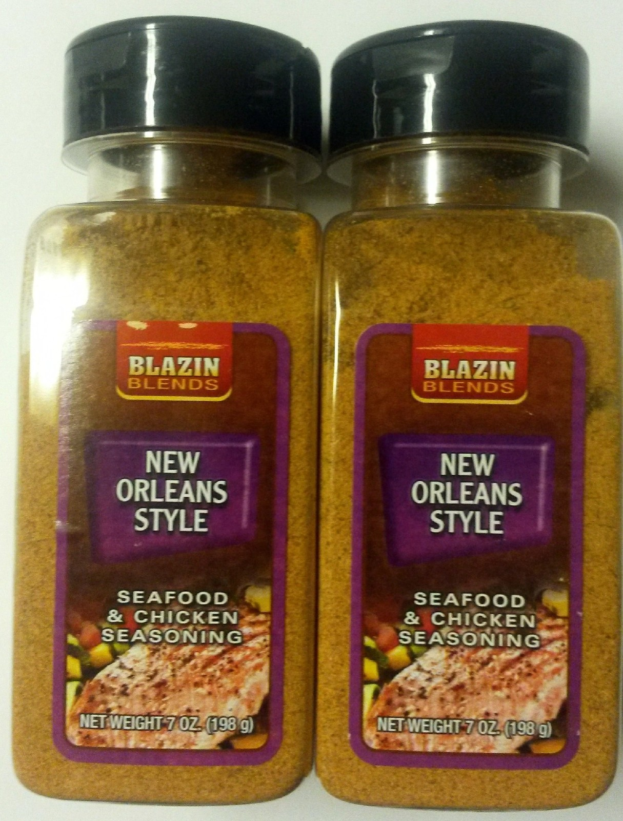2 bottles new orleans style cajun seafood and chicken for Cajun fish seasoning