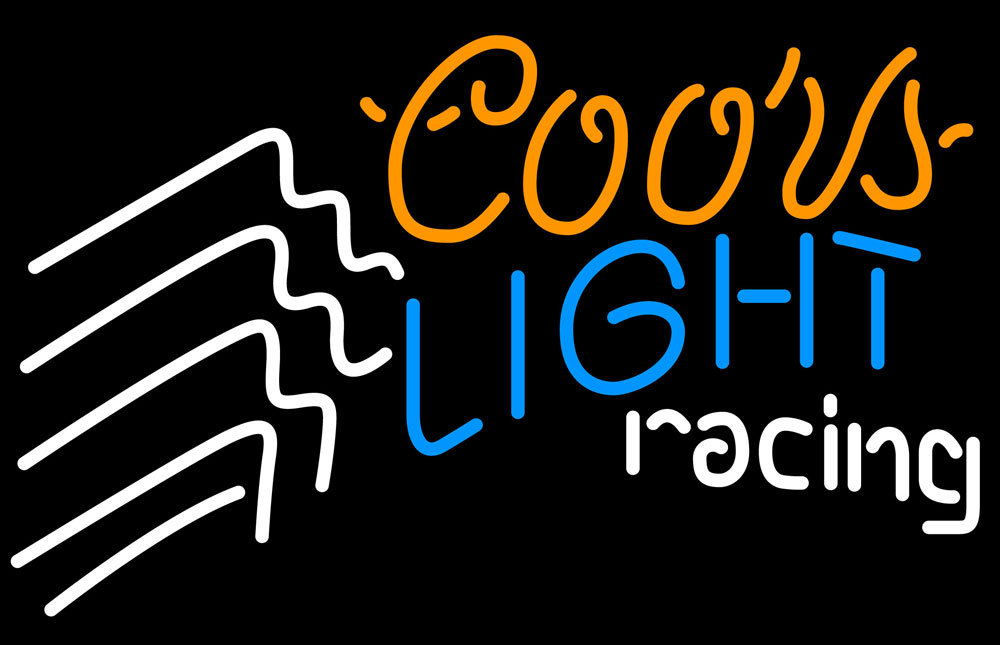 Coors Light Racing Neon Sign - Neon