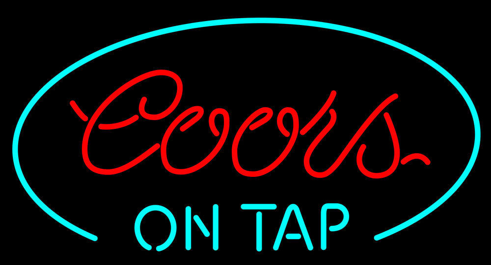 Primary image for Coors On Tap Oval Neon Sign