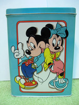 MICKEY MINNIE MOUSE TIN BOX Vintage 1980s Style... - $12.99