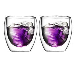 Bodum 250ml  Double Wall Glass Cup Coffee Cappuccino Mug Set of 2 - $18.90