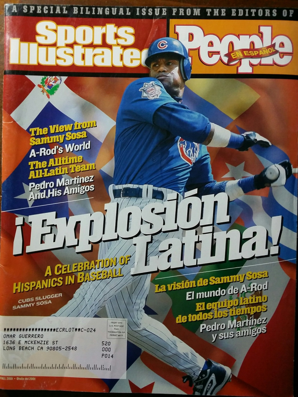 Primary image for SAMMY SOZA en SPORTS ILLUSTRATED /  PEOPLE En Espanol Fall 2001
