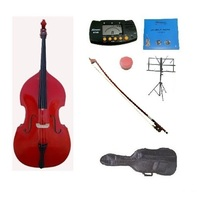 Merano 3/4 Size RED Upright Bass,Bag,Bow,Bridge,Strings,Stand,Tuner,Rosin - $899.99