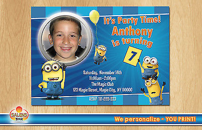 Primary image for Minions Birthday Party Invitation