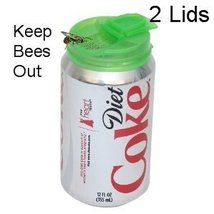 Jokari Beverage Deluxe Can Caps 2 Pack Soda pop Lids - KEEPS INSECTS OUT... - $5.05