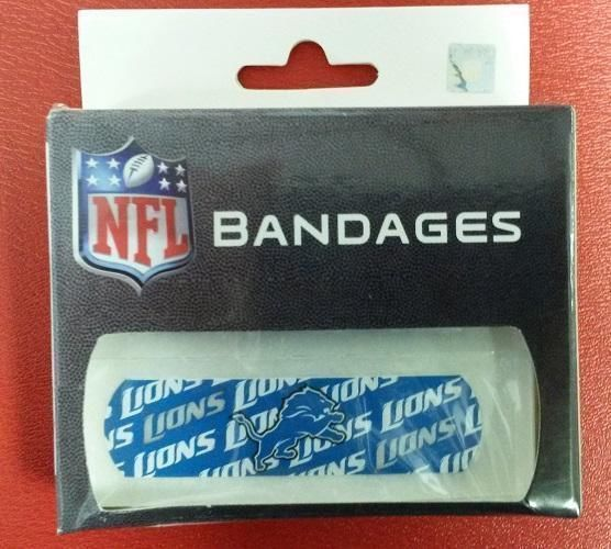 Primary image for NFL Detroit Lions Licensed Bandaids / Bandages